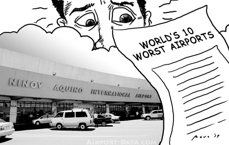 Sun.Star Bacolod editorial cartoon on Ninoy Aquino International Airport (NAIA) as world's 10 worst airport