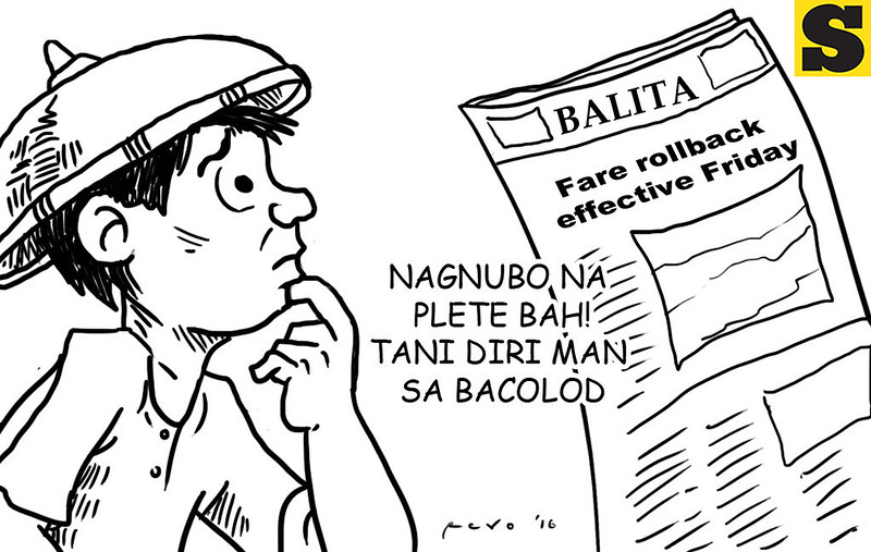 Fare rollback editorial cartoon