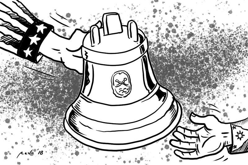 Balangiga bells editorial cartoon