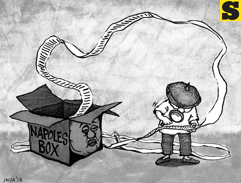Sun.Star Cebu editorial cartoon: Janet Napoles box