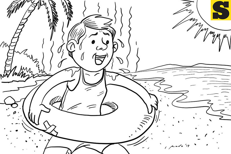 SunStar Bacolod editorial cartoon on summer season