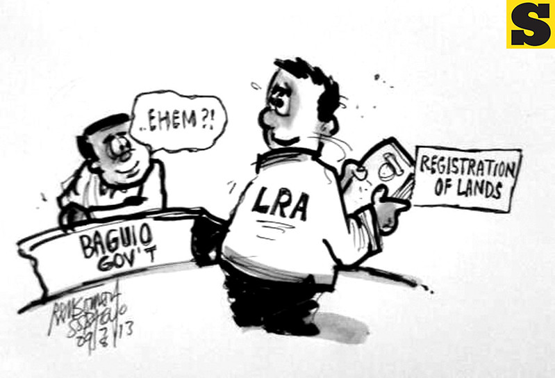 Sun.Star Baguio's editorial cartoon on land registration