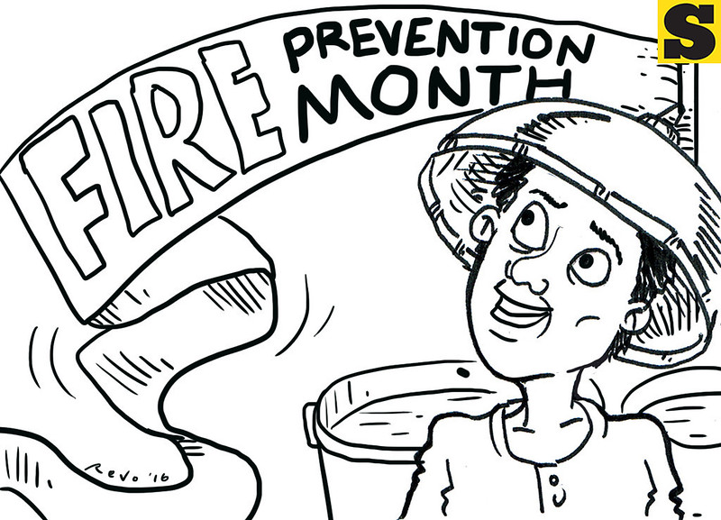 Sun.Star Bacolod editorial cartoon on fire prevention month