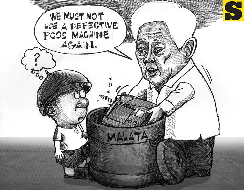 Sun.Star editorial cartoon on 2013 automated elections.