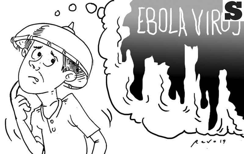 Sun.Star Bacolod's editorial cartoon for October 20, 2014 on ebola virus