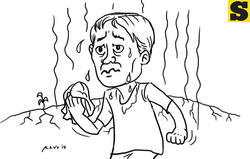 Sun.Star Bacolod editorial cartoon on El Nino and summer season