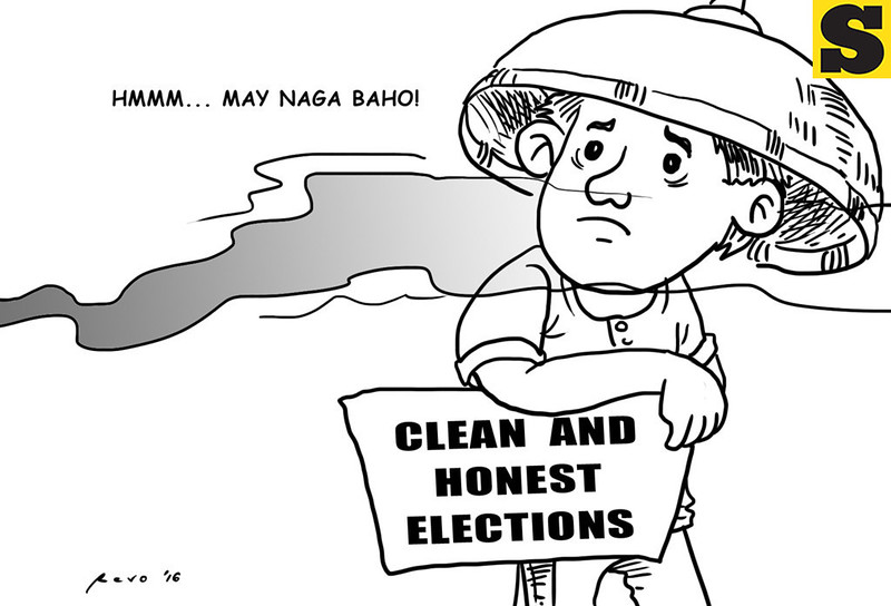 Sun.Star Bacolod editorial cartoon on clean and honest elections