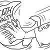 SunStar Bacolod editorial cartoon on church's stand on revival of death penalty