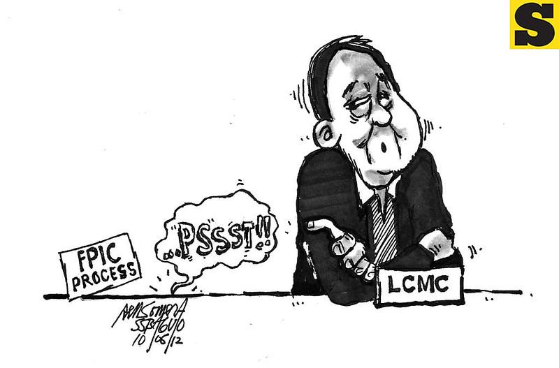Sun.Star Baguio editorial cartoon for October 6, 2012