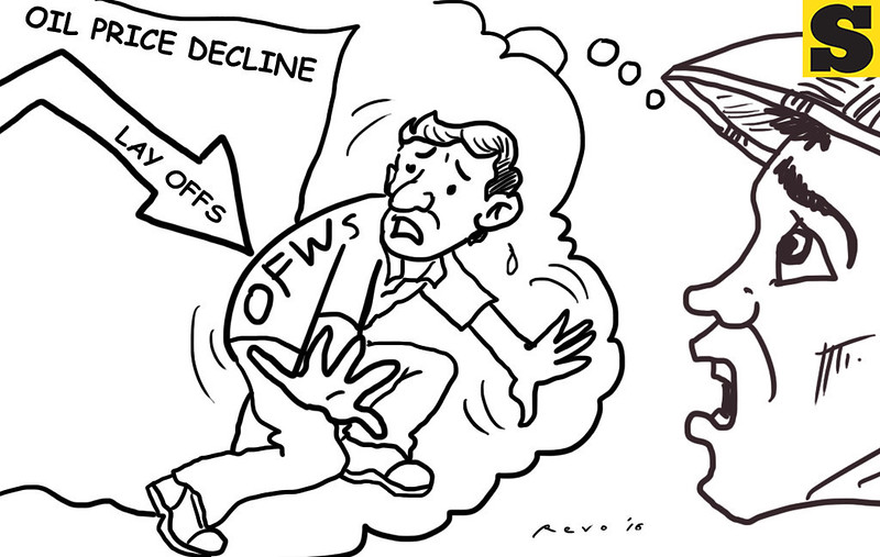 Sun.Star Bacolod editorial cartoon on oil price decline in Middle East