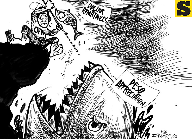 Sun.Star Davao editorial cartoon for September 13, 2012 on OFWs remittances