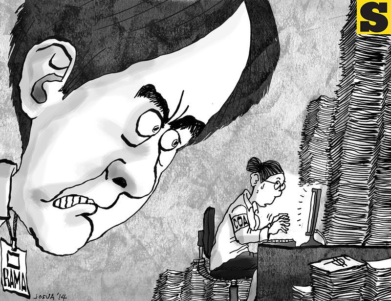 Editorial cartoon by Josua Cabrera of Sun.Star Cebu