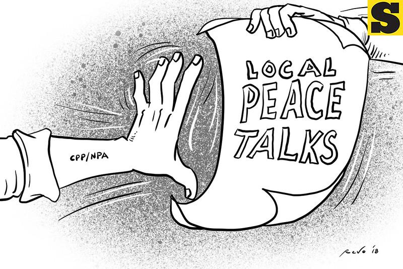 Local peace talks editorial cartoon