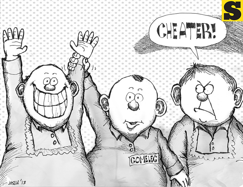 Sun.Star Cebu editorial cartoon for October 29, 2013 after the barangay elections