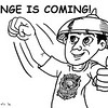 Sun.Star Bacolod editorial cartoon on Change is Coming with Rodrigo Duterte presidency
