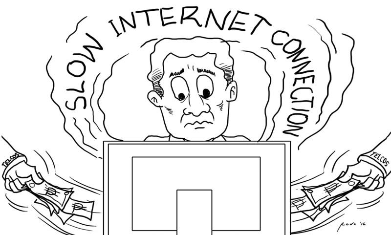 Sun.Star Bacolod editorial cartoon on slow internet connection