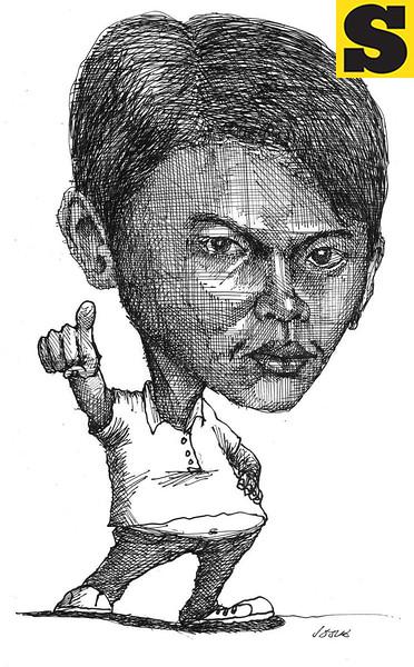 Sun.Star Cebu's editorial cartoon showing Joavan Fernandez, Cebu's public enemy number 1. (Josua Cabrera)