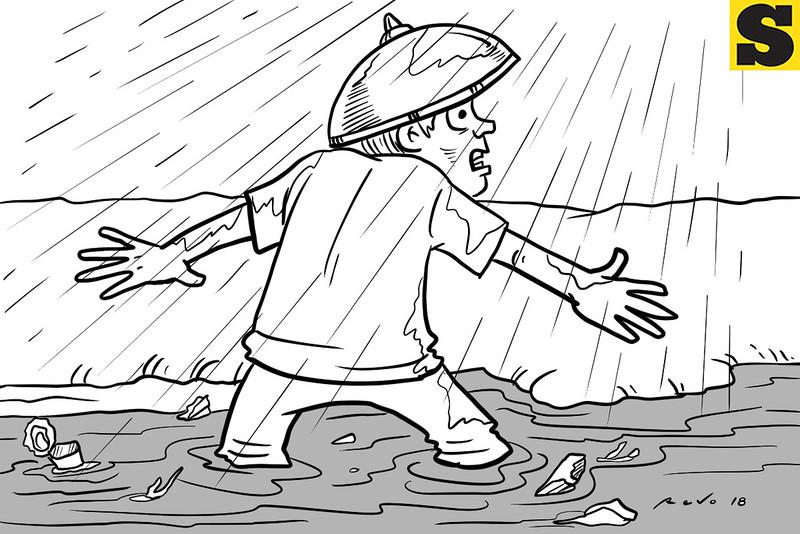 SunStar Bacolod editorial cartoon on flooding
