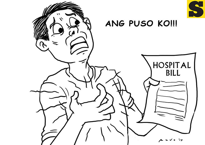 Sun.Star Bacolod editorial cartoon - hospital bill