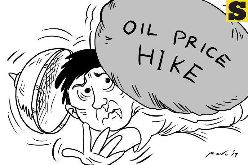 SunStar Bacolod editorial cartoon on oil price hike