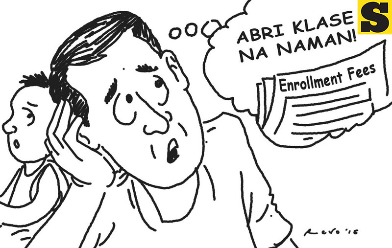 Sun.Star Bacolod's editorial cartoon for class opening
