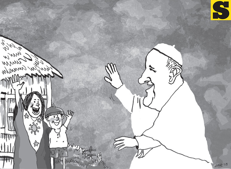 Sun.Star Cebu editorial cartoon on Pope Francis visit to Philippines