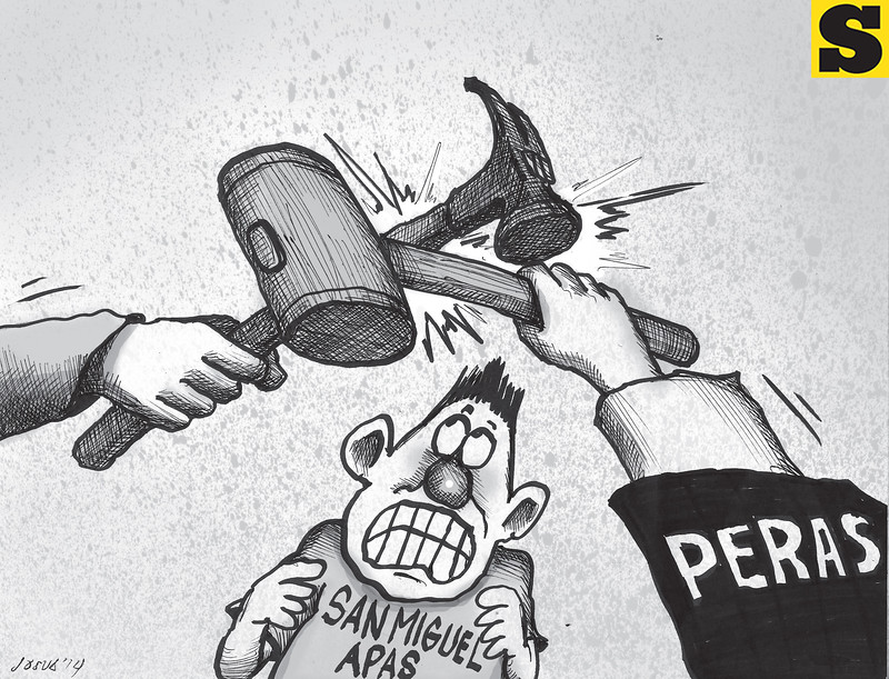 Sun.Star Cebu editorial cartoon on Barangay Apas demolition
