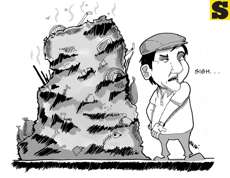 Sun.Star Cebu editorial cartoon on Cebu City garbage
