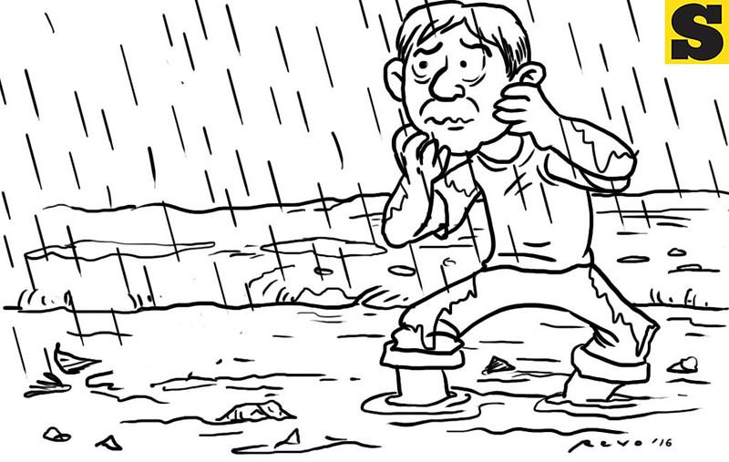 Sun.Star Bacolod's editorial cartoon on rainy season