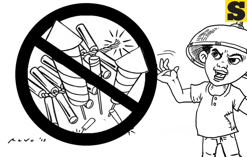 Sun.Star Bacolod editorial cartoon on firecrackers ban