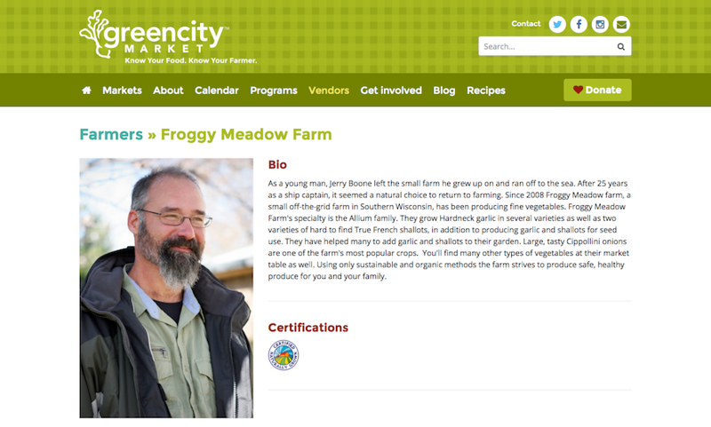 Photography done for Froggy Meadows Farm, Wisconsin.
