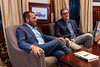 discussion on anti-semitism with Rabbi Shmuley Boteach, Bret Stephens and Polish Consul General Adrian Kubickyi, New York, USA