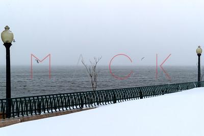 Jersey City, NJ - February 01:  The Snow Storm, Jersey City, USA