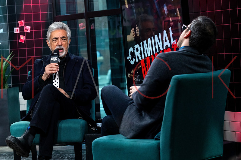 "Joe Mantegna visits the BUILD Series to discuss the 15th season of ""Criminal Minds"", New York, USA"