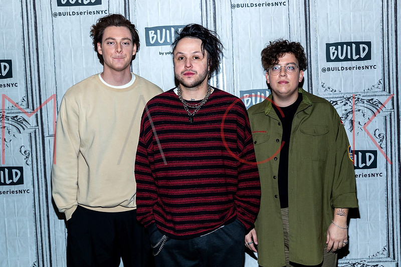 """Members of the trio, lovelytheband, visit The BUILD Speaker Series to discuss their new single """"loneliness for love"""", New York, USA"""