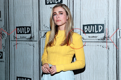 """New York, NY - January 06:  Melissa Roxburgh visits the BUILD Series to talk about the second season of the NBC series """"Manifest"""""""