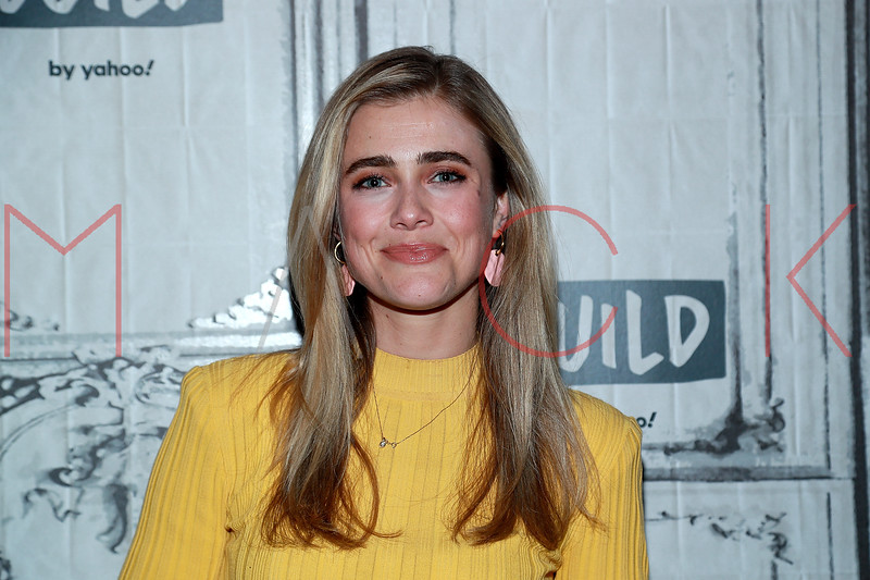 """Melissa Roxburgh visits the BUILD Series to talk about the second season of the NBC series """"Manifest"""", New York, USA"""