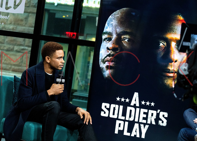 """Nnamdi Asomugha visits the BUILD Speaker Series to discuss the new Broadway play """"A Soldier's Play"""", New York, USA"""