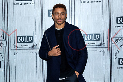 """New York, NY - January 30:  Nnamdi Asomugha visits the BUILD Speaker Series to discuss the new Broadway play """"A Soldier's Play""""."""