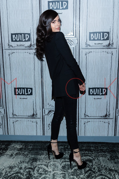"Sofia Carson visits the BUILD Speaker Series discussing how she and R3HAB reunited for the heartfelt track ""I Luv U"", New York, USA"