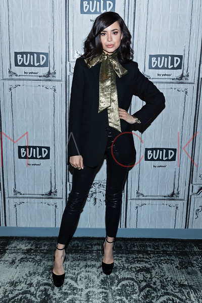 """Sofia Carson visits the BUILD Speaker Series discussing how she and R3HAB reunited for the heartfelt track """"I Luv U"""", New York, USA"""