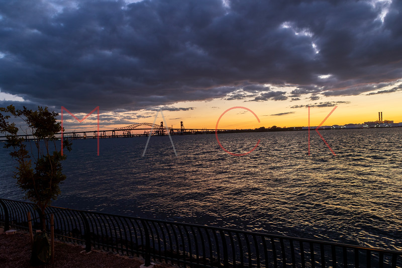 Sunset over the Hackensack River, Jersey City, USA