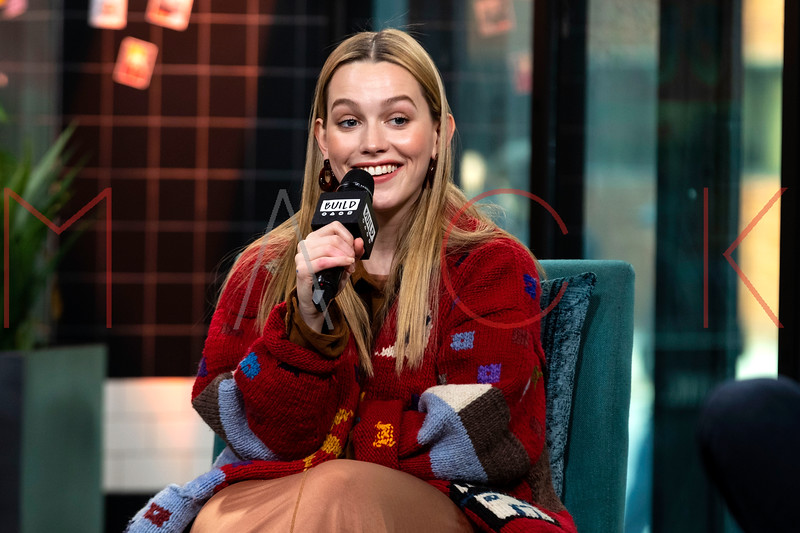 """Victoria Pedretti visits the BUILD Series discussing Season Two of """"You"""", New York, USA"""