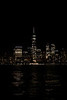View of the Manhattan Skyline, at night, from, New York, USA