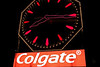 View of the Colgate Clock, at night, from, Jersey City, USA