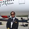 "Kenya Airways Capt. Irene Koki Mutungi said the 787 ""is beautiful"" and ""the best aircraft I've flown so far."" (Photo/Liz Segrist)"