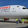 Boeing flightline crews prepare the 787 Dreamliner for its 16-hour journey to Nairobi. (Photo/Liz Segrist)