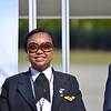Kenya Airways Capt. Irene Koki Mutungi is the first female pilot in Africa. (Photo/Liz Segrist)