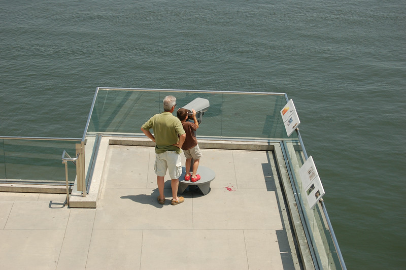 Aug. 6, 2009<br /> A boy looks across the Cooper River from the S.C. Aquarium on Charleston Harbor. (Photo/Andy Owens)