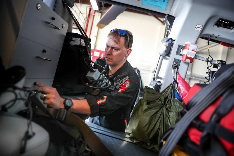 IU Health ride along with the LifeLine Lafayette, IN airbase on June 12, 2017. Following LifeLine staff: Pilot Werner Winkler, Flight Nurse Venessa Scott, and Flight Paramedic Todd Hope. During the day shadow from 7am-7pm a critical care transport from Elkhart to Methodist Hospital was conducted using the mobile Balloon Pump on board the helicopter. (IU Health/Evan De Stefano)